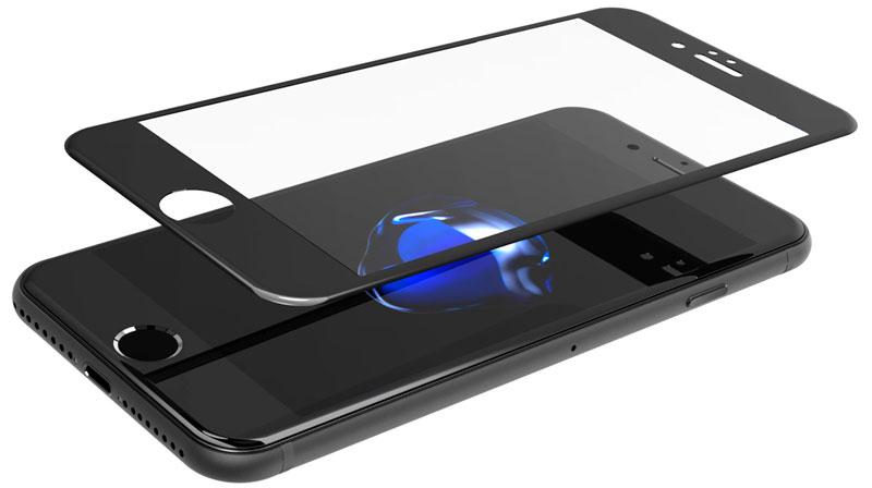 Наклейка защитного 3D стекла на iPhone 7