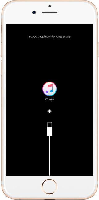 Айфон 7 в Режиме восстановления