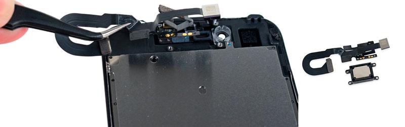 Чистка или замена слухового динамика iPhone 7