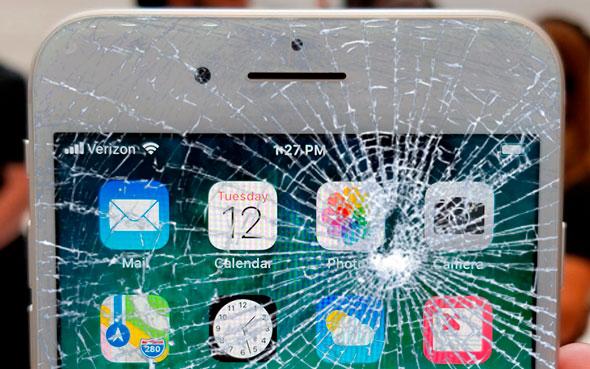 Разбит экрана или стекло на iPhone 8